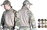Emerson Airsoft Tactical Military Shirt Combat Gen3 Shirt (Multicam Arid, Large)