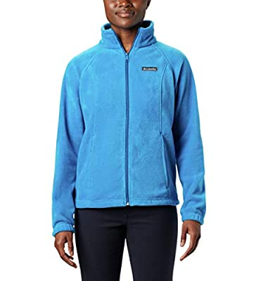Columbia Women's Benton Springs Full Zip Jacket, Soft Fleece with Classic Fit, Fathom Blue, Petite X-Small