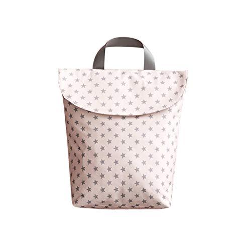 RG-FA Baby-Wickeltasche, tragbar, Segeltuch-Tasche, wiederverwendbar, wasserdicht, für Reisen, multifunktionale Windeltasche – Little Pink Star