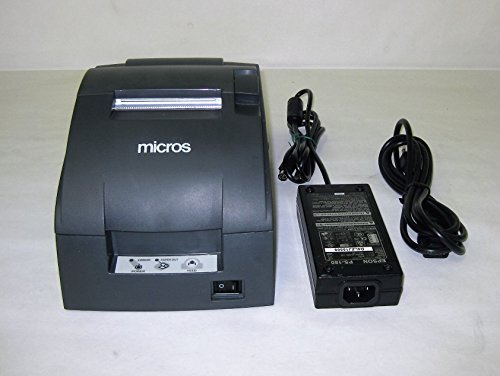 TM-U220B, Impact, two-color printing, 6 lps, Serial interface only, Power supply, Dark gray