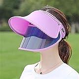 WUTOLUOHANS Sonnenhut Sonnencreme Anti-UV Roll Up verstellbare Kappe for Damen -