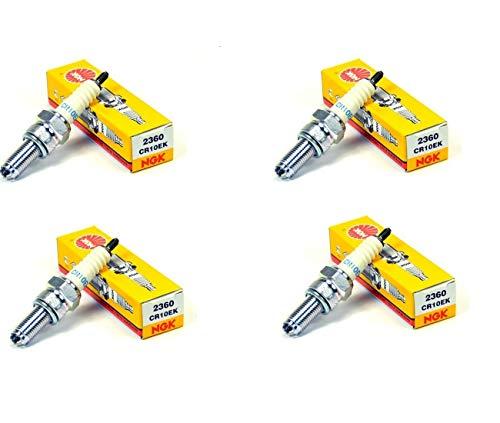 Compatible con YZF R6-99/20/ 750 GSXR -90/92 - Lote de 4 bujías NGK CR10EK