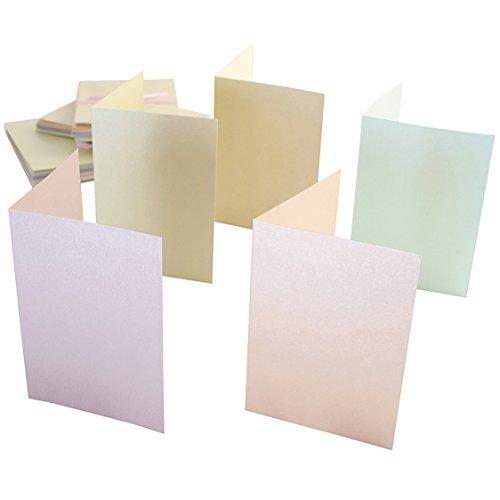 Anita's biglietti A6 con buste,colori pastello perlescenti,confezione da 50, 148 X 105 mm