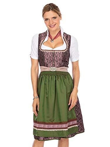 Stockerpoint Damen Dajana Dirndl, Mehrfarbig (Aubergine-Grün Aubergine-Grün), (Herstellergröße: 38)