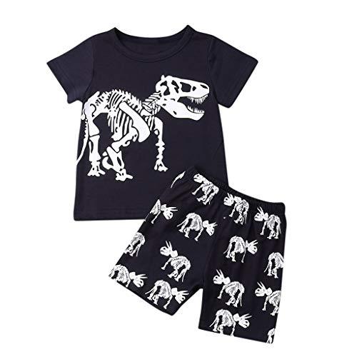 Hui.Hui Ensemble Denim Bib,GarçOn T-Shirt à Carreaux Tops à Manches Longues Shirt Blouse + Denim Pantalons Tenues Costume pour Enfants 1-5 Ans