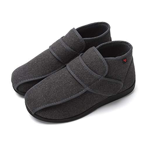 Schoenvoor gezwollen voeten, oedeem, ouderen, herfst- en winterschoenen voor diabetici, verbrede orthopedische schoenen voor dames, bruin_UK3.5, diabetische pantoffels voor mannen met traagschuim