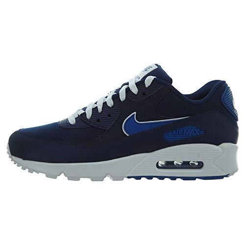 Nike Herren Air Max 90 Essential Laufschuhe, Mehrfarbig (Blue Void/Game Royal/White 401), 47 EU