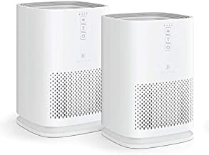 Medify MA-14 Air Purifier with H13 True HEPA Filter   200 sq ft Coverage   for Smoke, Smokers, Dust, Odors, Pet Dander   Quiet 99.9% Removal to 0.1 Microns   White, 2-Pack