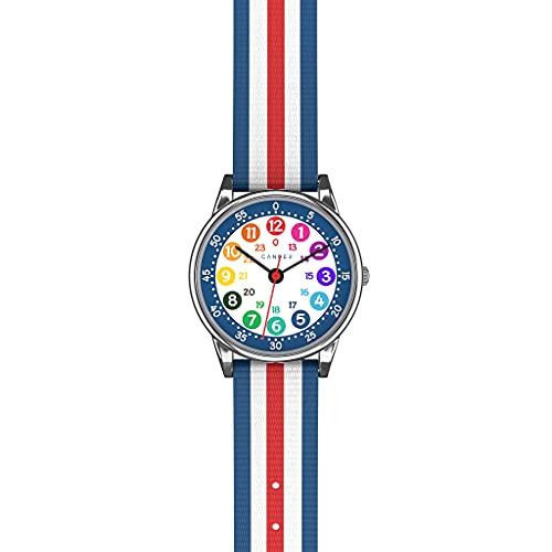 Cander Berlin MNA 1130 R - Reloj de pulsera para niños y niñas, color azul