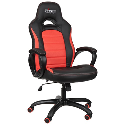 Nitro Concepts C80 Pure Gaming Stuhl - schwarz/rot