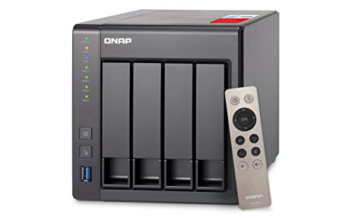 QNAP TS-451+-2G Desktop NAS Gehäuse mit 2 GB DDR3L RAM, 4-Bay Storage Server