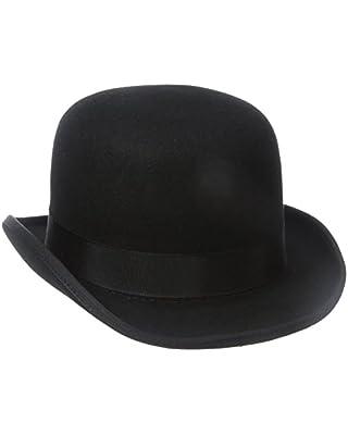 Stacy Adams Men's Wool Derby Hat, Black, Large