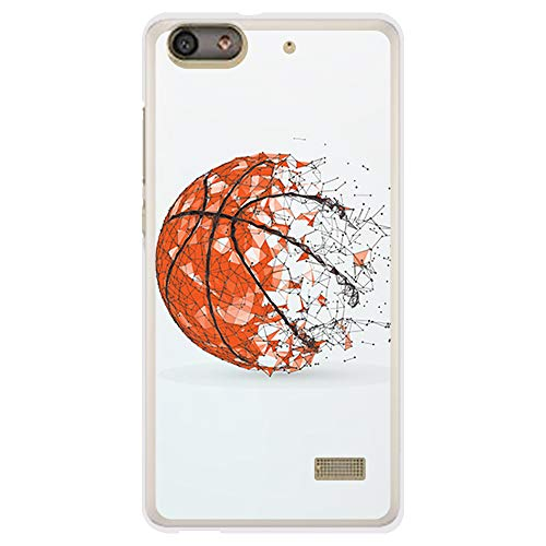 BJJ SHOP Funda Transparente para [ Huawei G Play Mini ], Carcasa de Silicona Flexible TPU, diseño: Pelota de Baloncesto, Abstracto