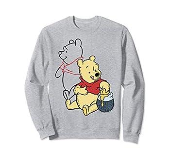 Disney Winnie The Pooh Line Art Portrait Sweatshirt