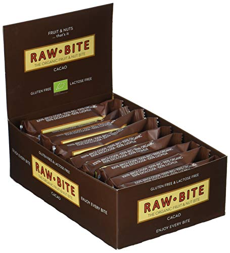 Raw Bite Rohkost Riegel Cacao, 12er Pack (12 x 50 g)