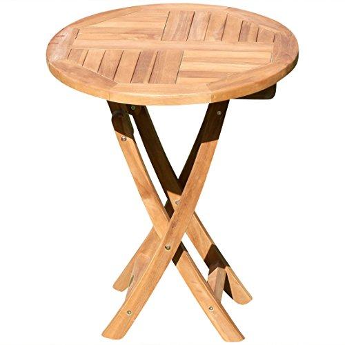 ASS Teak Klapptisch Holztisch Gartentisch Garten Tisch rund 60cm JAV-Coamo Holz von