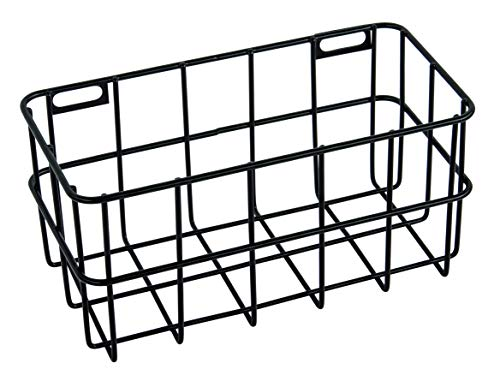 Rayher 25187576 Drahtkorb, 16,5 x 8 x 8 cm, schwarz, Wandregal, Metallregal, Aufbewahrungsbox, Gitterregal