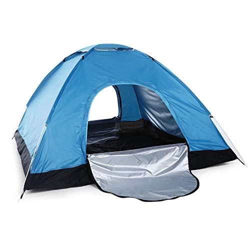 Chnrong Campingzelt, 4 Personen, Doppeltür, leicht, schnell zu öffnender Zelt, wasserdicht, Instant Pop Up, Faltzelt für Familien-Picknick, Strand, Garten, Angeln