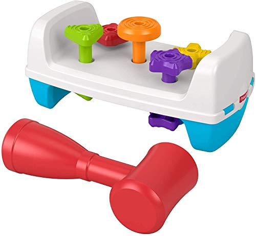 Fisher Price - Mesita de Actividades, Formas y Martillito, Juguete para Bebés...