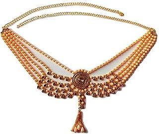 WomenSky Gold Plated Kamarpatta Ottiyanam for Kamarband for Women