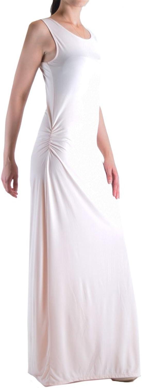 Dinamit Jeans Women's Basic Scoop Neck Sleeveless Floor Length Slit Dress