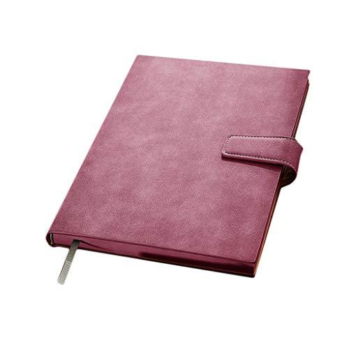 Cuadernos de diario en blanco de papel rayado plan Diario cuaderno de la libreta de cuero magnética con la pluma ranura Cuadernos de Calidad y revistas for hombres y mujeres de la Oficina increíble Pa