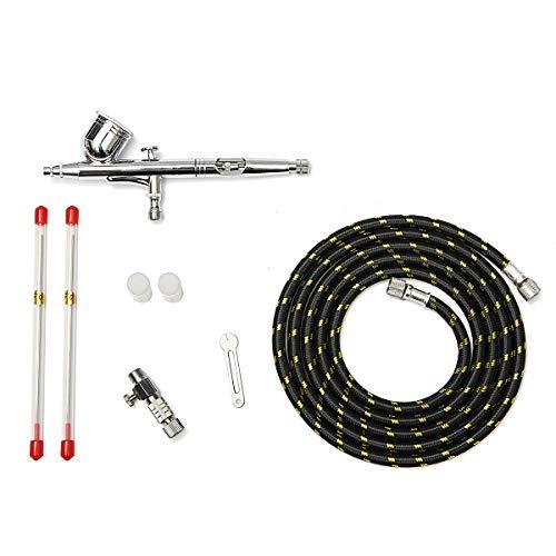 MINGMIN-DZ Cleaza de Fibra T130K Dual-aerógrafo de la acción 0,2/0,5 mm 7CC Alimentación por Gravedad Cepillo de Aire Pistola de pulverización de Pintura Kit fusionadora de Fibra optica