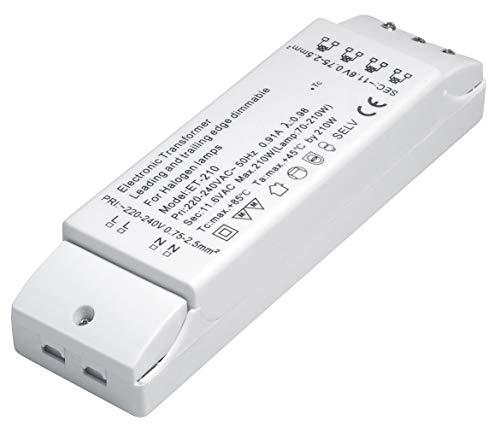 conecto X-HT030 Halogentransformator 12V/70-210 Watt, 220-240V, 50Hz, dimmbar mit Phasenanschnittsdimmer