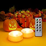 Kohree LED Orange Pumpkin Lights Battery Operated with Remote and Timer, Halloween Decorative...