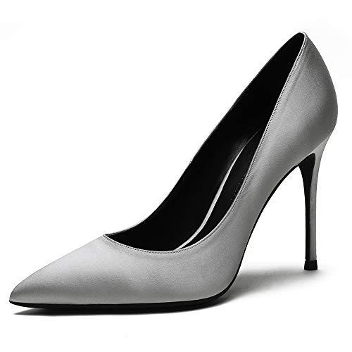 Roimaash 10CM Heel Elegante Mujer Pumps Stiletto Sin Cordones Business Zapatos Basic...