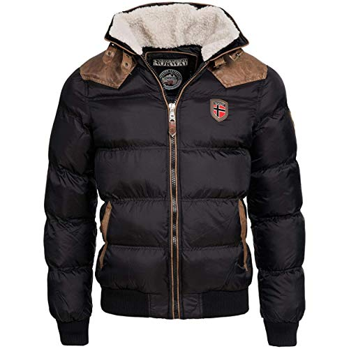 Geographical Norway ABRAMOVITCH MEN - Chaqueta Hombres Impermeable - Grueso Abrigo Capucha...