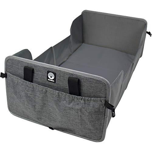Original Dooky Traveller - faltbares Baby Reisebett inkl. Matratze - superleicht, kompakt, Fächer an den Außenseiten, 41 x 75 cm (aufgebaut) / 41 x 26 cm (gefaltet), 100% Polyester, Schwarz