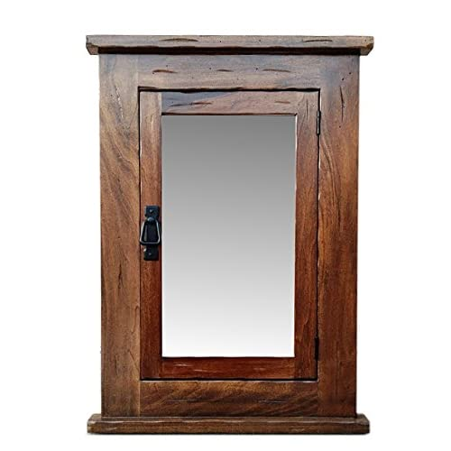 Amazon.com: Primitive Mission Recessed Medicine Cabinet/Rustic/Solid Wood U0026  Handmade: Kitchen U0026 Dining