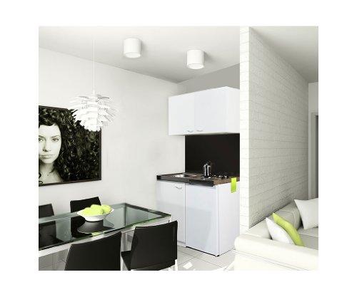 respekta MK100WOS Miniküche 100 x 60 cm weiß