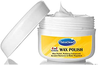 Tetraclean 4 in 1 Advanced Formula of Scratch Remover, Rubbing Compound, Water Repellent and Wax Polish for Long Lasting shine of your Car (250 gms)