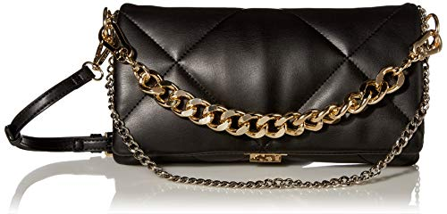Steve Madden Cobble Quilted Clutch, Black
