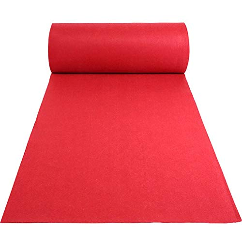 tonchean Red Carpet Runner, 3.3ft x 33ft Hollywood Birthday Party Decorations Red Carpet Event Runner for Indoor Or Outdoor Use