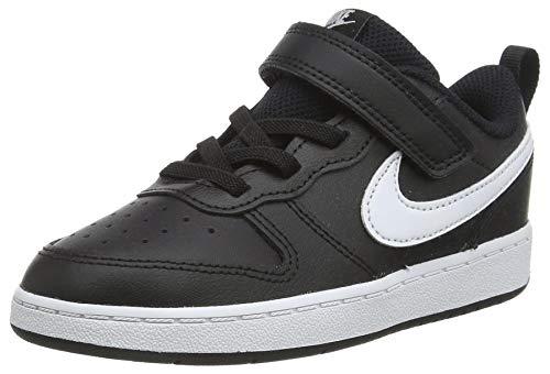 Nike Baby-Boys Court Borough Low 2 (TDV) Sneaker, Black/White, 21 EU