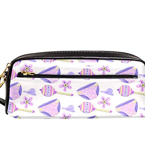 Yitian Purple Bragas ANG Lollipops Estuche con compartimentos Papelería Bolsa de Papelería Estuche Organizador de Lápiz y Estuche de Maquillaje para Niños Niñas para la Escuela