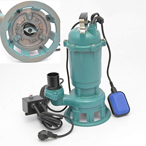WEISBACH Fäkalienpumpe Schmutzwasserpumpe mit Cutter 1500W 300L/min