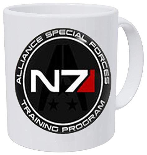 bab Mass Effect N7 N7 Ohrstecker Mass Effect Art Geschenke Fan Geschenk Kaffeetasse