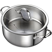 Cooks Standard 7-Quart Classic Stainless Steel Dutch Oven