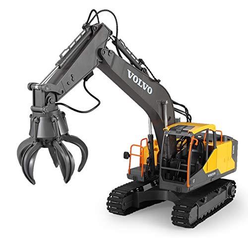 HYMAN 3 in 1 Ferngesteuertes Baufahrzeug 2.4G Bagger, Baggerwagen, Crushing Engineering Fahrzeug, Bauspielzeug für Kinder