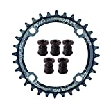 JGbike Elite Round Oval Chainring 104mm BCD 30T 32T 34T 36T 38T Narrow Wide Single Chainring for 8 9...