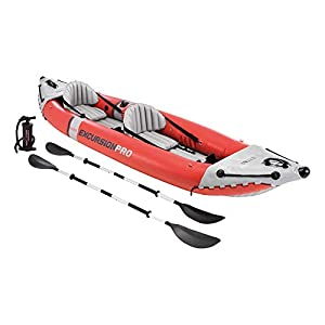 Intex Excursion Pro Kayak, Super Tough Laminate with Oars and Pump, 384x94x46cm