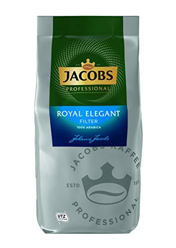 Jacobs Professional Royal Elegant Filterkaffee, 1kg, gemahlen, ergiebig, fruchtiges Aroma, feine Säure, 100% Arabica, UTZ-zertifiziert