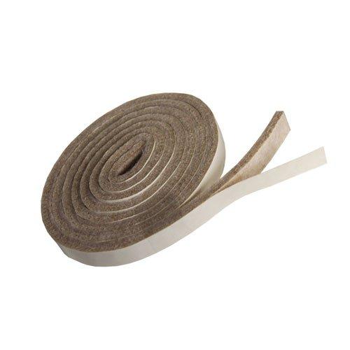 Filzband selbstklebend, ca. 1,47 m lang, 1,27 cm breit, 0,5 cm dick, extra strapazierfähiger Filz, 4 Stück, beige; als Bodenschutz für Möbelfüße, Tischbeine, Stuhlbeine, Stühle - Made in Canada