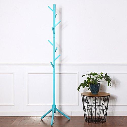 SKC Lighting-Porte-manteau Porte-manteau en bois massif Suspension Suspension Suspension Suspension à manette Suspension créative simple (Couleur : Bleu)