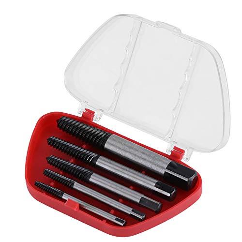 Extractores, removedor de tornillos Chacerls, 5 piezas, extractor de tornillos rotos, broca dañada, herramienta de extracción fácil de sacar