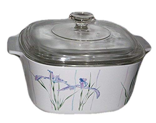 Corning Shadow Iris 3 Quart Square Covered Casserole, No Lid, Fine China Dinnerware